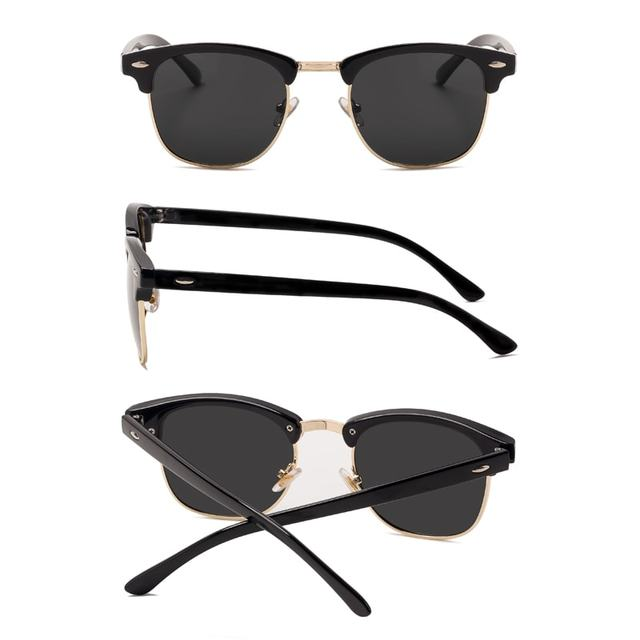 New Semi-Rimless Men's Polarized Sunglasses