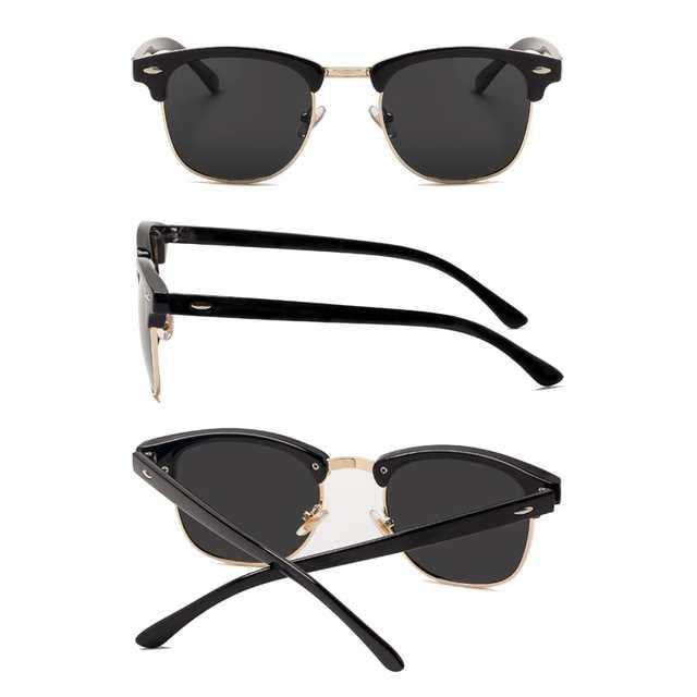 7285ee6720 Online Shop 2018 New Fashion Semi Rimless Polarized Sunglasses Men Women  Brand Designer Half Frame Sun Glasses Classic Oculos De Sol UV400    Aliexpress ...