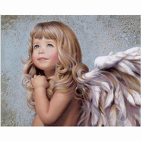 Angel Beautiful Oil Painting Modern Home Decor Framed Canvas Painting By Numbers DIY Modular Picture Cuadros