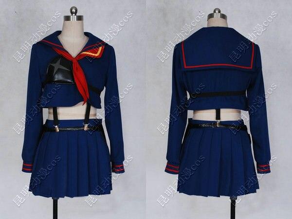 Anime Cos Cosplay KILL la KILL Ryuko Matoi Cosplay Costume Girl Daily School Uniform Any Size