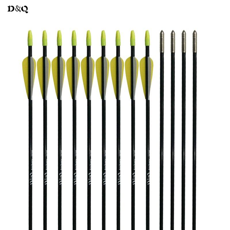 ✓6 unids 31 pulgadas fibra de vidrio de Tiro con Arco flechas ...