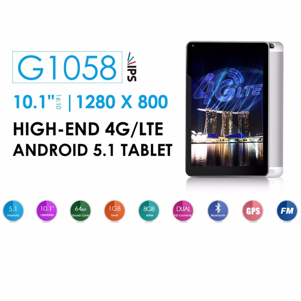 US $153 99 |AZPEN G1058 10 1 inch MTK8735 Quad Core 1GB RAM 8GB ROM 4G  Phone Call Android 5 1 Tablets PC, Google Play OTG WiFi 6000mAh-in Tablets  from