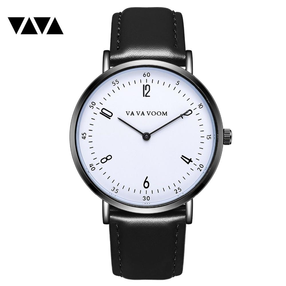 VA VA VOOM Men's wish brand authorized new cross-border hot belt fashion minimalist quartz watch men's stock stock in Guangzhou zoo ba va va voom vol 2 lp