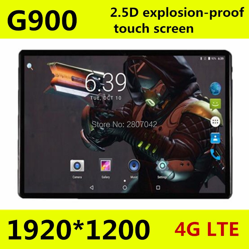 Free shipping 10.1 inch 2.5D screen 4G LTE tablet pc Octa core 1920*1200 HD IPS 4GB 128GB wifi Bluetooth GPS Android 7.0 tablets(China)