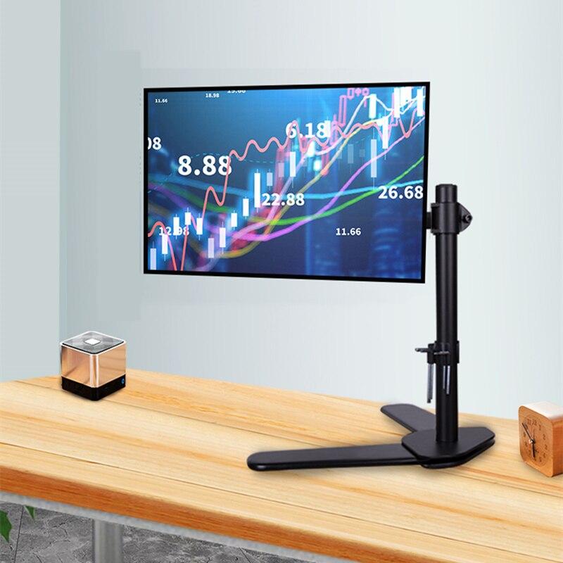 Moniteur LCD socle de bureau autonome Support de bras de porte-table 360 degrés Rotation ordinateur Support d'écran unique