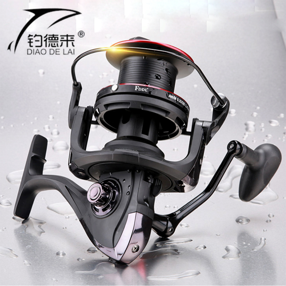 2018 New Big Spool 10000 series Long casting Spinning fishing reel 4.1:1 Fly Fishing Reel For carp feeder fishing+Free Spool new luna 7 6 1 bait casting reel 12bb 5 0kg 151g super light fishing reel machined aluminum spool for carp fishing tackle