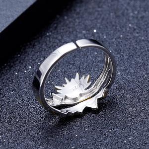 Image 4 - GEMS בלט זהב ציפוי 925 כסף טבעת נישואים טבעת בעבודת יד מתכוונן להרחיב טבעת תכשיטי אירוסין לגברים
