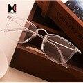 Super-Luz de Peso Mulheres Quadrados Óculos de Armação Homens Da Marca do Desenhador Transparente Claro Óculos de Lente