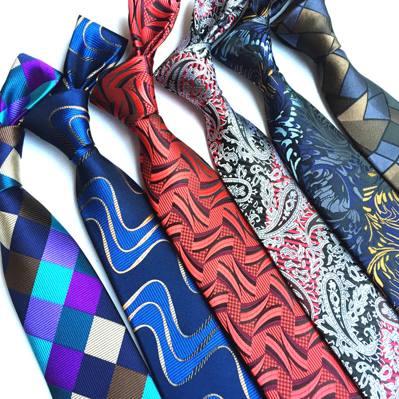 High Quality 100% Silk Men's Tie Classic Plaid Striped Paisley Flower Gentleman Neck Tie Necktie Groom Tie Business Tie