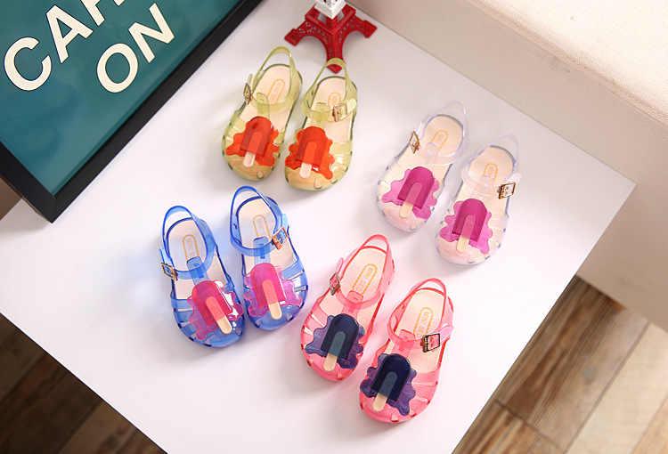 Trẻ Em Mini Sandal 2019 Cô Gái Mới Jelly Xăng Đan Bé Trai Trẻ Em PVC Giày Sandal Trẻ Em Đi Biển Chống Trượt Cho Bé giày Size19-31