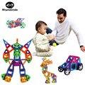 70 unids Conjunto Bloques Magnéticos Fuertes Ruedas de Coche Juguetes Educativos de Construcción 3D DIY Ladrillos Bloques de Plástico ABS Para Niños Novedad juguetes