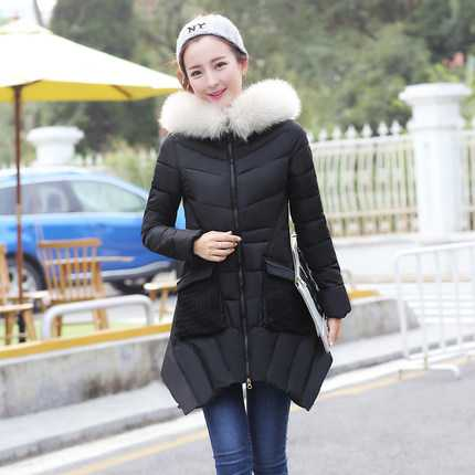 цены на New Arrival Fashion Winter Slim Long Sleeves Zipper Fur Hooded Collar Splice Pockets Jackets Cotton Padded Women Coat H6232 в интернет-магазинах