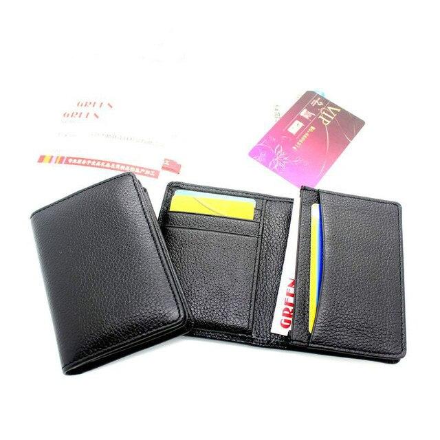 porte carte Genuine Leather Mini Wallet Bank/Name Card Holder Credit Card Holders Women Men ID Card Case High Quality Designer