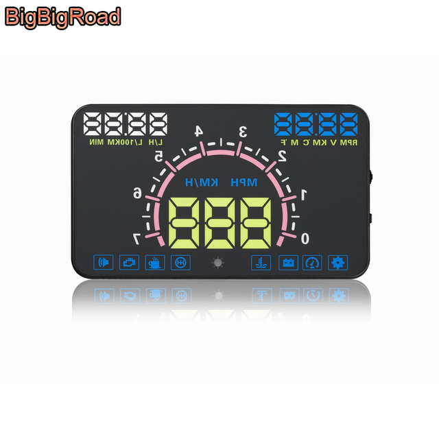 US $50.91 25% OFF|BigBigRoad Car HUD Head Up Display Windscreen Projector on