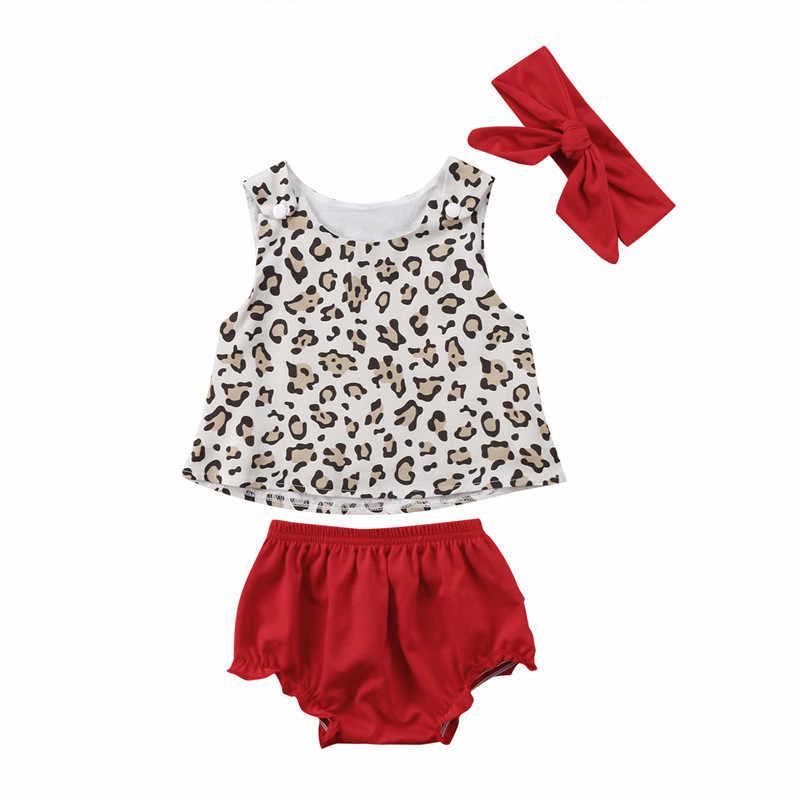 c1c91bcb3 Baby Girls Clothes Set 2018 Newest Newborn Girl Leopard Tops Vest Shorts Pants  Headband 3pcs Outfits