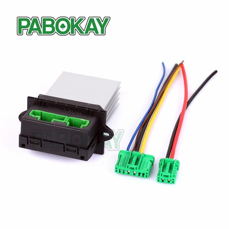 For Citroen C5 C3 C2 heat blower Resistor+Connector/Wire 6441 L2 6441L2 7701207718 7701048390 0916202 0917001 60936695 509355