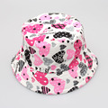 2017 Baby Girls Summer Hat Heart Kids Canvas Sun Hat Children Leisure Fisherman Cap
