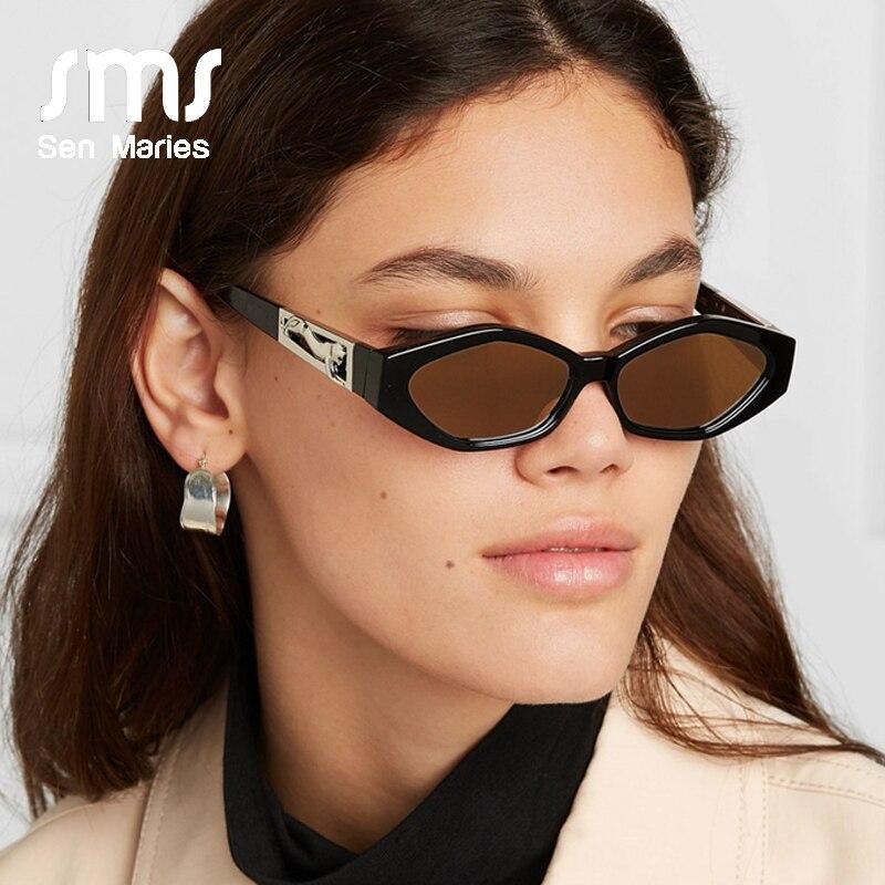 2019 Fashion Small Sunglasses Women New Brand Designer Personality Leopard Cat Eye Sun Glasses For Men Eyewear Shades UV400