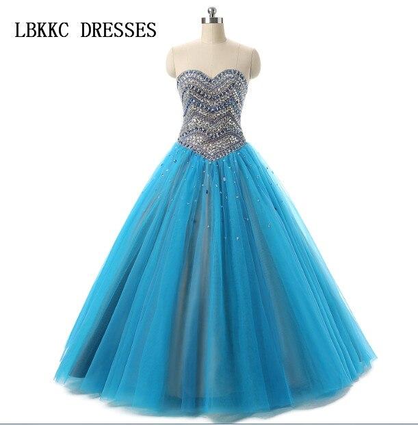 57ca2c4bf Quinceanera Dress Blue Sweet 16 Dresses Tulle With Beading Bling Sweetheart Vestido  De Debutante Vestido De 15 Anos 2017
