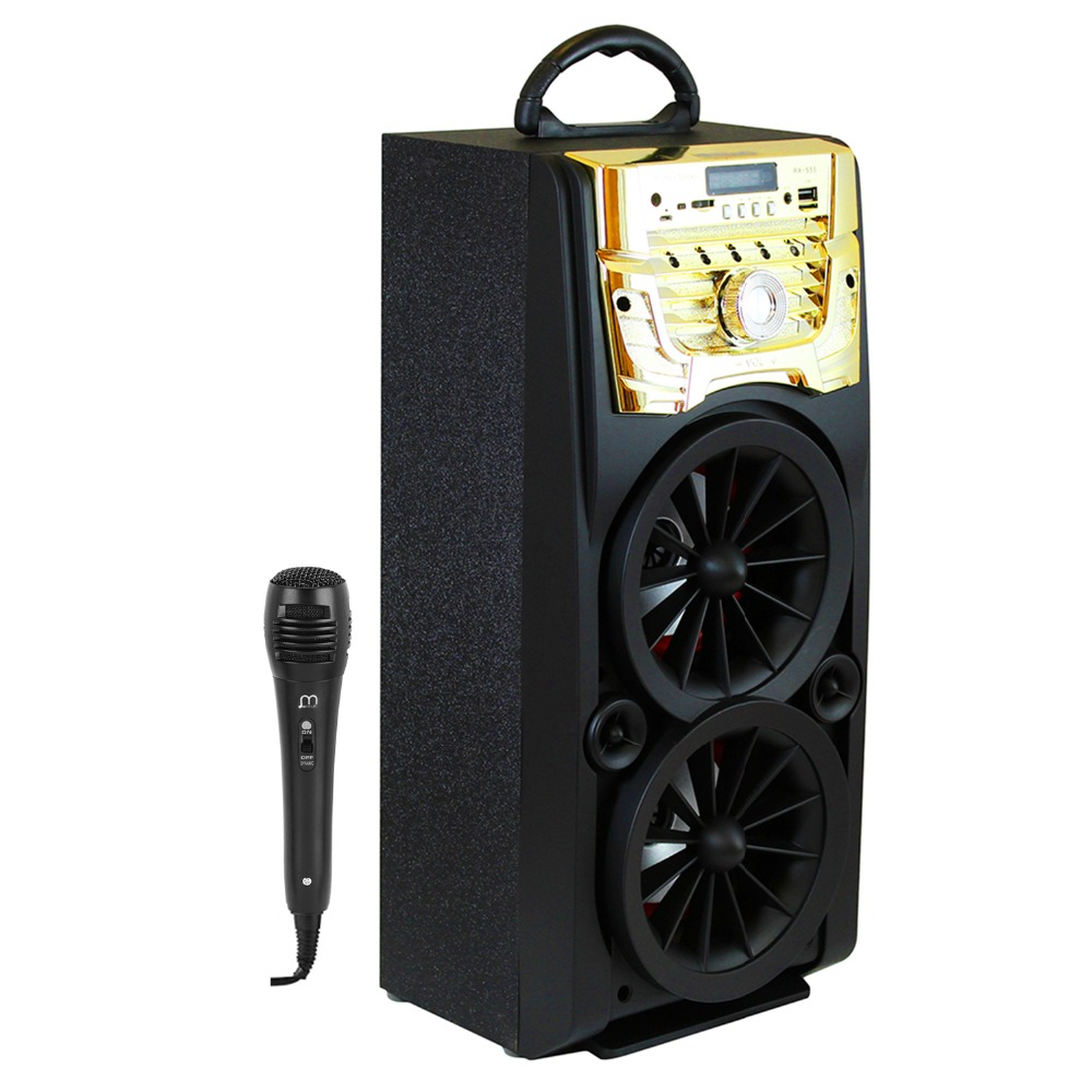 Speaker Karaoke Bluetooth Portable with Microphone High Power Radio For Party speaker bluetooth karaoke portable wireless with microphone with fm radio mp3 portable output 20w high power for party bbq