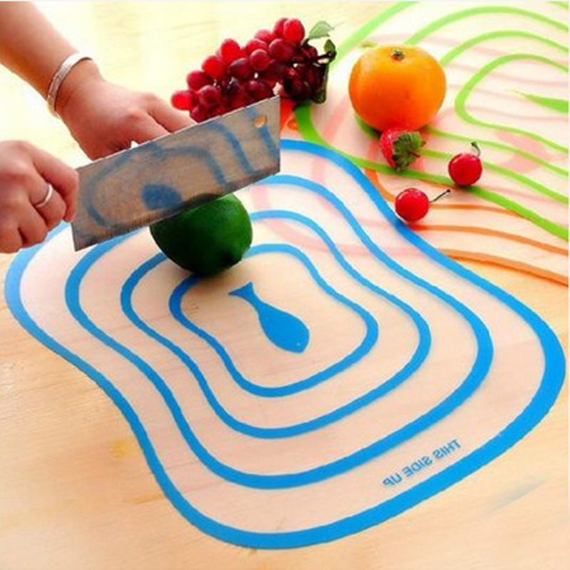 4 Pcs/Lots Chopping Block Cutting Chopping Board Frosted Translucent Cutting Board 30 x 23 x 0.08cm Free Shipping