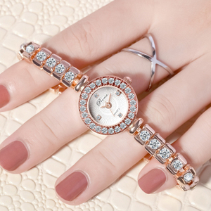 Image 2 - PREMA Ladies Bracelet Watch Women Luxury Fashion Rhinestone Quartz Watches Small Dial Stainless Steel Wristwatch Relogio 2020