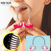 1PCS New Face Hair Removal Device / Pull Faces Delicate Beauty Micro Spring Epilator Depilation Shaving Hair Remover Beauty Tool