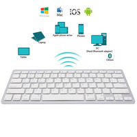 Новый Краткое ультра-тонкий Беспроводной Bluetooth клавиатура для iPad Air 2 iPad мини 1 \ 2 \ 3 \ 4 Galaxy вкладки Microsoft # k400y # Dropship