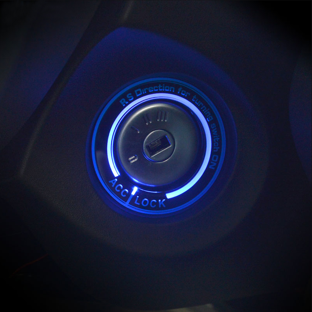 New Arrival Car light LED Ignition Switch cover/Ring key ...