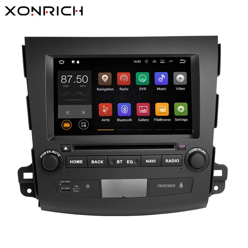 Xonrich 2 Din Android 8.1 Car Multimedia Player Per Mitsubishi Outlander 2007-2011 AutoRadio GPS Navi DVD Unità di Testa audioWifi 4g