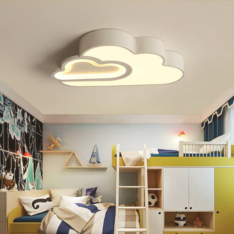 LED Cloud kids room lighting children ceiling lamp Baby ceiling light with Dimming for boys girls bedroom Ceiling Lamp led|Ceiling Lights| |  - title=