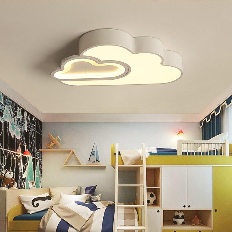 LED Nube camera dei bambini dei bambini di illuminazione a soffitto lampada Del Bambino della luce di soffitto con Regolazione per le ragazze dei ragazzi camera da letto Lampada Da Soffitto A led