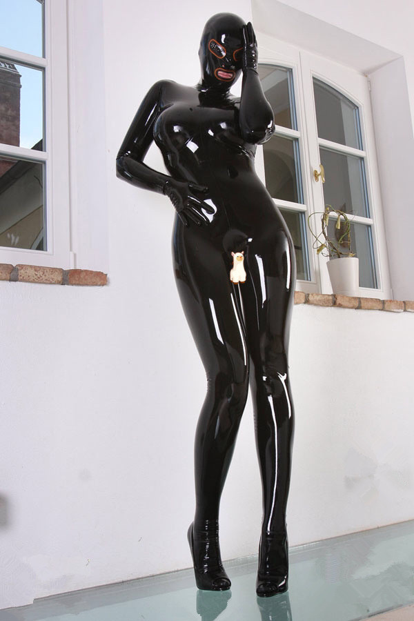 Sexy-Black-Latex-Rubber-Zentai-Catsuit-with-Latex-Hood-Latex-Gloves-Latex-Socks-3
