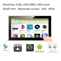 15 inch Android touch screen kiosk(RK3188,1GB RAM 8GB nand flash, Bluetooth, USB, SD/MMC/MS,VESA,Wall Bracket)