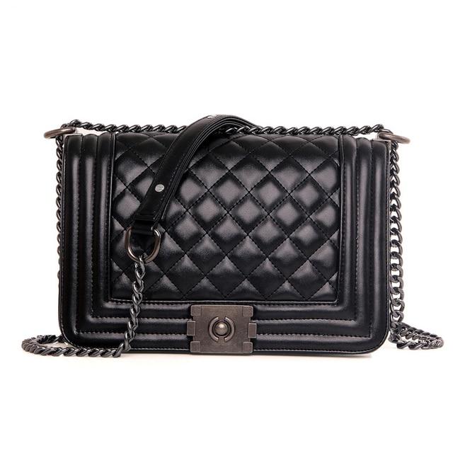2016 Diamond Lattice Women Messenger Bags famous Brand Designer PU Leather Handbag Chain Shoulder Bag Plaid Women Crossbody Bag