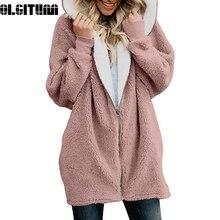 25615b033 New Women Jackets Winter Coat Women Coat Ladies Warm Jumper Fleece Faux Fur  Coat Hoodie Outwear