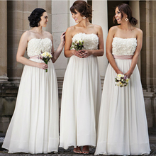 Formal Sweetheart Chiffon Lace Bridesmaid Dresses 2017 Vestido Dama De Honra New Long Bridesmaid Dress For Wedding Party