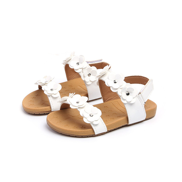 5070dd42c0c Top Selling Children Sandals for Girls Soft Leather Flowers Princess Baby  Girl Sandal Shoes Kids Beach Sandals Baby Toddler Shoe