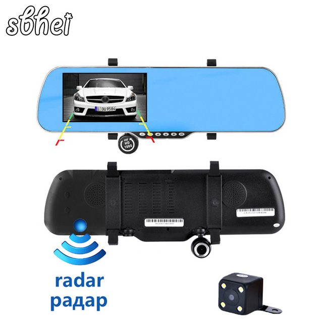 sbhei 5 inch IPS Car GPS Navigation Rearview mirror Android 4.4 Allwinner A33 Quad-core 1080P DVR Rear view/Built in 8G