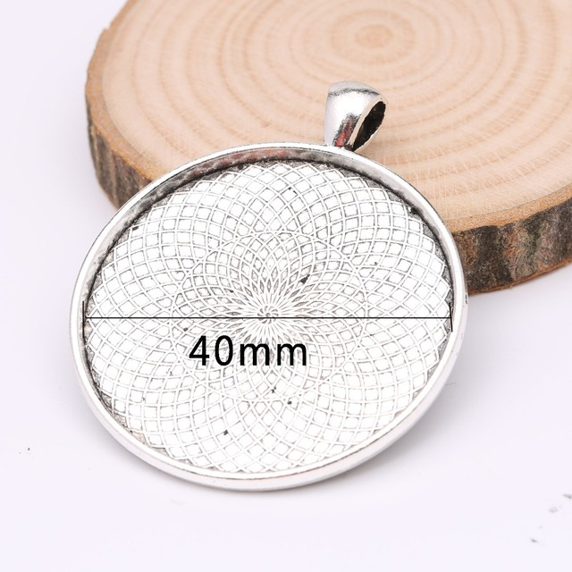 Reidgaller 5pcs 40mm round cameo cabochon pendant base settings reidgaller 5pcs 40mm round cameo cabochon pendant base settings antique silve jewelry bezel blanks diy necklace mozeypictures Image collections