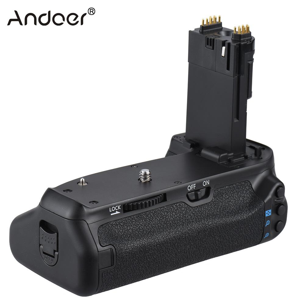 Andoer BG 1T Vertical Battery Grip Holder for Canon EOS 70D 80D DSLR Camera Compatible with