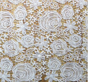 DUWES 5y/lot Water soluble Lace fabric trimming high quality Garment accessories DIY handcrafts fashion home decoration L0139