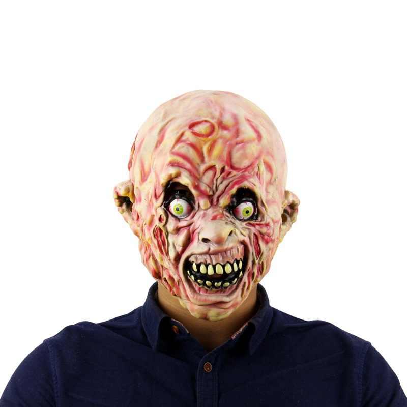 Di alta Qualità di Halloween Maschere Da Clown Silicone Zombie Spaventoso Maschera In Lattice Del Partito Terror Devil Ghoul Predator Realistico