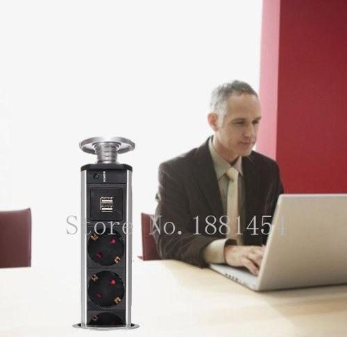 US $1150.0 |EU Standard Wand Steckdose Küche Büro Desktop Buchse  Arbeitsplatte Punkt Pull Versenkbare Steckdose 220 v buchse eu 50 stücke-in  Stecker ...