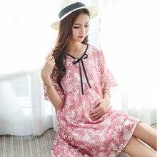 Virágos nyomtatott köntös szülészeti ápoló ruha Nyári Boho Beach hosszú szoptatás ruha ruhák a terhes nők