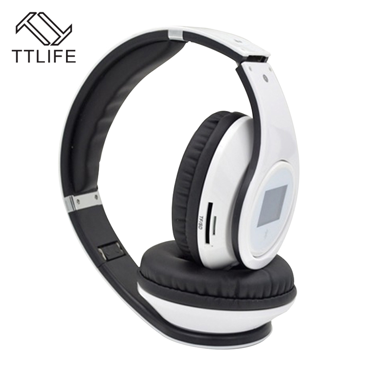 TTLIFE BQ968 Wireless Bluetooth Headset Sports Bluetooth Headband Music Fashion Original Headphone with TF Card For Phone Xiaomi hl good quality original wireless headset bluetooth headphone headband headset with fm tf led indicators for iphone cell phone