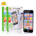 New Kids Child YPhone Música Teléfono Móvil Estudio Juguete Educativo Inglés Touch Aprendizaje Automático Niños divertidos juguetes con Luz LED