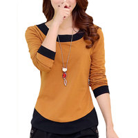 New Autumn 2015 Woman T Shirt Long Sleeved Casual Slim Basic Shirt O Neck Women Tshirt