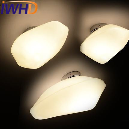 Фотография IWHD Nordic Style Glass stone Sconce Modern LED Wall Lamp Fashion Bedroom Living Room Wall Light Fixtures Home Lighting Stairs