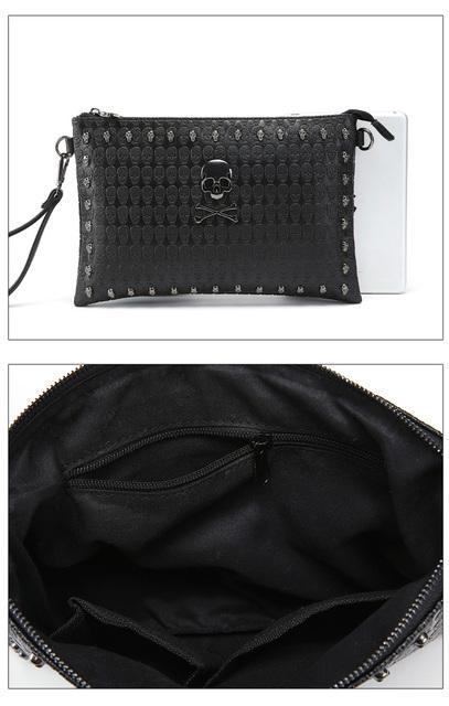 Envelope Clutch Skull Bag